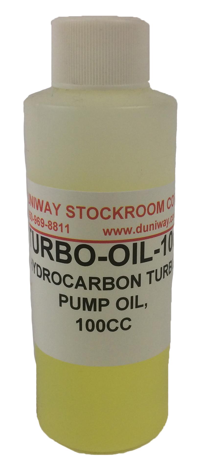 Hydrocarbon Turbo Pump Oil, 100cc | DUNIWAY